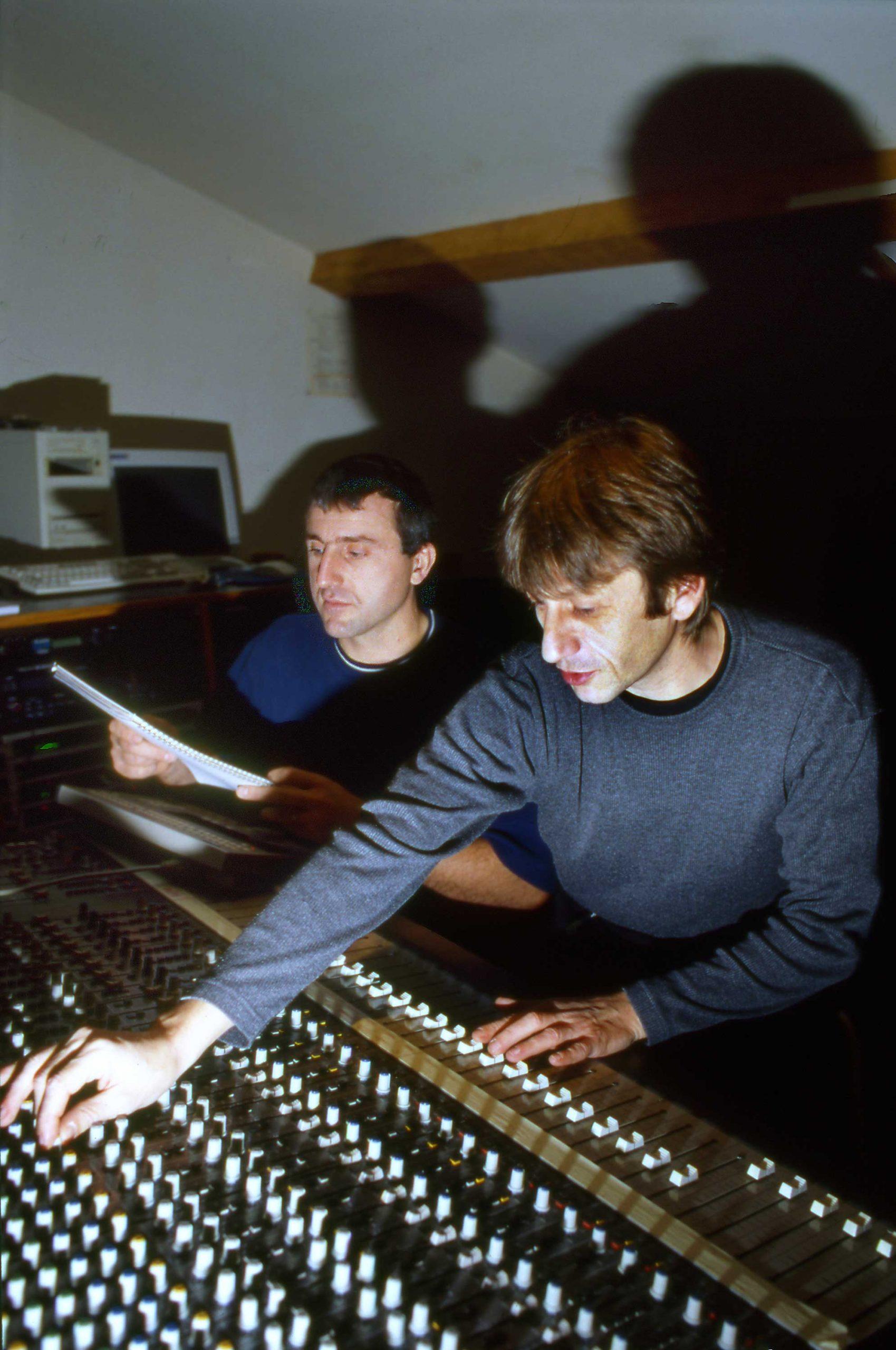 1991 : ouverture du studio dans le bâtiment annexe. Patrice décide de laisser la main de cette activité à Pascal Ricard qui sera, <br>pendant près de trente ans, un guide précieux pour de nombreux musiciens.